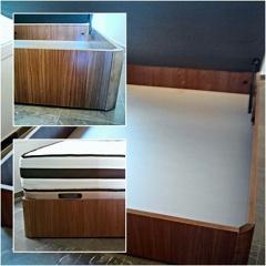 Canape de madera en color Nogal