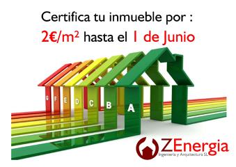 Certificado energético por 2 euros/m2 hasta el 1 de Junio