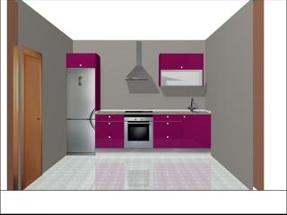 Oferta cocina 3 ml por 1490 igic ofertas reformas cocinas - Cocinas color berenjena ...