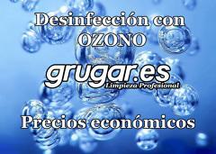 Desinfección mediante cañón de ozono