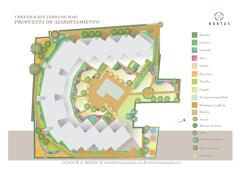 Ejemplo del diseño de jardín comunitario