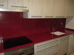 Encimera de cocina en cuarzo rojo