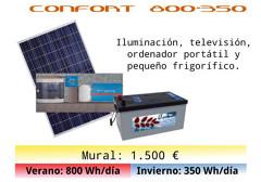 Instalación premontada Confort 800-350 por 1.400 € más portes.