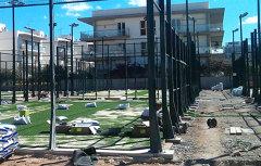 Instalación y montaje de pistas de padel y tenis.