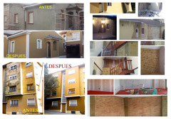oferta en fachadas ,renovamos su fachada acabado piedra