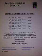 Oferta interiores de viviendas .  PRESUPUESTOS SIN COMPROMISO!!! NO LO DUDE , CONSULTE