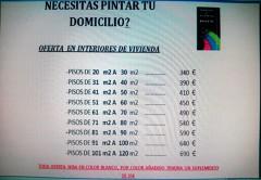 OFERTAS PINTURA INTERIOR DE VIVIVENDAS
