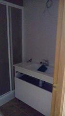 Pie de ducha y mampara de baño
