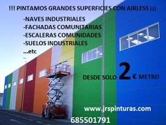 PINTAMOS GRANDES SUPERFICIES CON AIRLESS