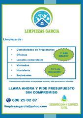 PROMOCION LIMPIEZAS GARCIA