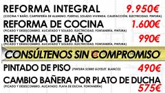 Reformas integrales, reformas de cocinas, reformas de baños, y mucho más.