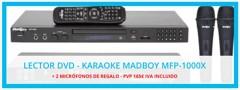 Reproductor de Karaoke MadBoy MFP-1000X + 2 Micrófonos de regalo
