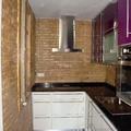 Reforma cocina completa en blanco y lila