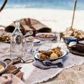 picnic romántico en la playa
