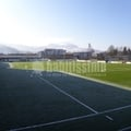 Campo De Fútbol De Hierba Artificial y Vestuarios En Elizondo