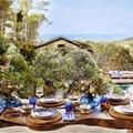 mesa rústica para la terraza