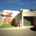 Acceso a la vivienda y garaje exterior