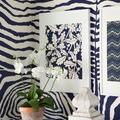 Animal Print en tonos azul pared