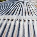 Aplicación de caucho en cubierta ondulada