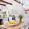 Ático pequeño con cocina y comedor integrados