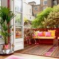 balcón con tarima exterior