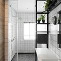 baño con alicatado blanco