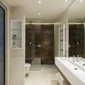 Baño con lavabo lineal