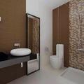 baño marrón