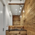 baño pequeño de estilo rústico