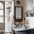 baño rústico romántico