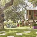 Casa para niños en el jardín