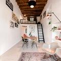 Casa con vigas de madera originales