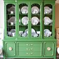 mueble chalk paint verde