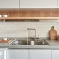Cocina estantería madera