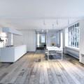 cocina abierta al espacio principal