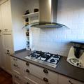 Cocina blanca colonial