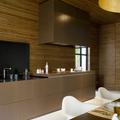 Cocina con lamas de madera