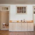 Cocina de madera de pino