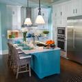 Cocina en azul y blanco