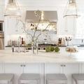 Cocina estilo chic mármol blanco
