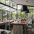 cocina madera ventanales