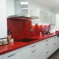 Cocina mármol rojo