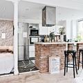 Cocina y dormitorio separados por pared