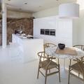 Cocina y salón totalmente conectados