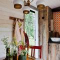 Cocinas forradas en madera natural