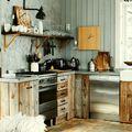 Cocinas forradas en madera