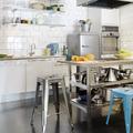 Cocinas industrial blanca