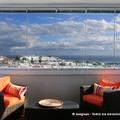 Cortina de cristal en terraza con vistas mar