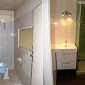 Cuarto de baño antes y después.