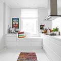 cocina blanca de decoración nórdica
